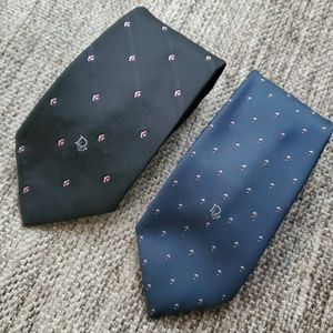 Christian Dior | Black and blue ties